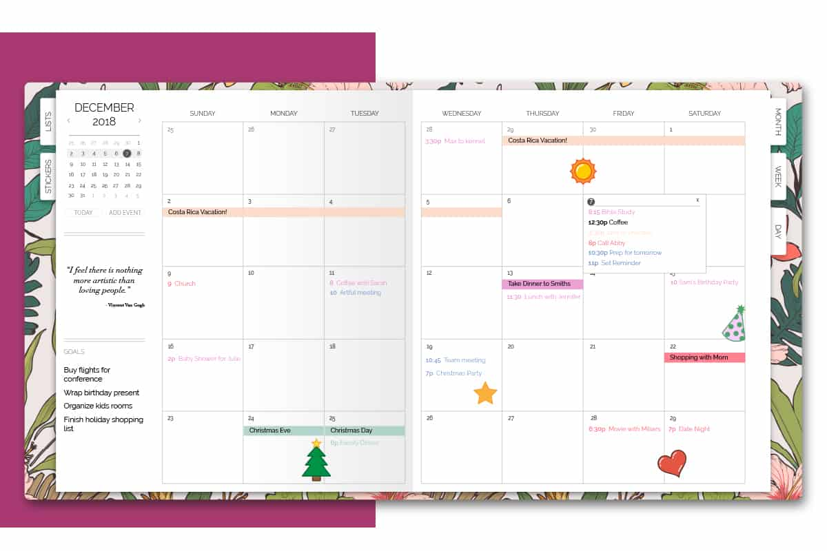 Month View Features
