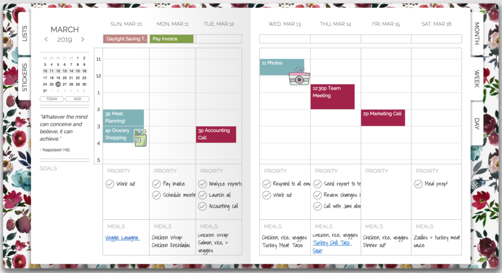 Incorporating Meal Planning & Water Tracking Into Your